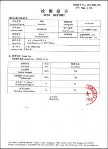 A193 B8M CL2 sertifikaat